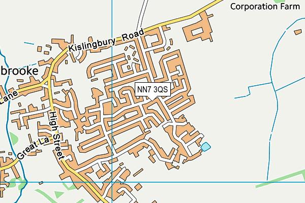 NN7 3QS map - OS VectorMap District (Ordnance Survey)
