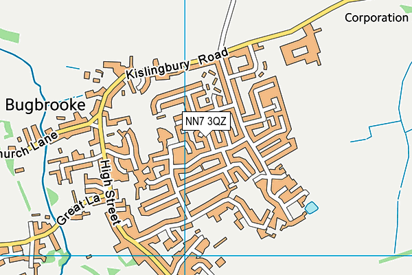 NN7 3QZ map - OS VectorMap District (Ordnance Survey)