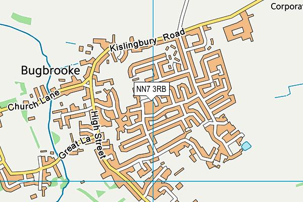 NN7 3RB map - OS VectorMap District (Ordnance Survey)