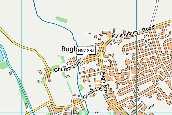 NN7 3RJ map - OS VectorMap District (Ordnance Survey)