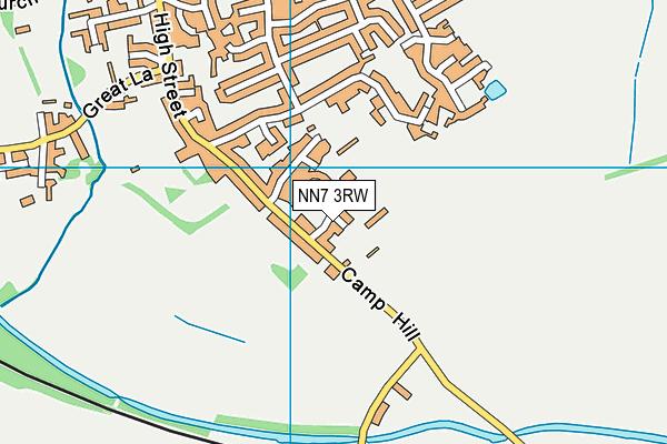 Bugbrooke Rugby Union Football Club map (NN7 3RW) - OS VectorMap District (Ordnance Survey)