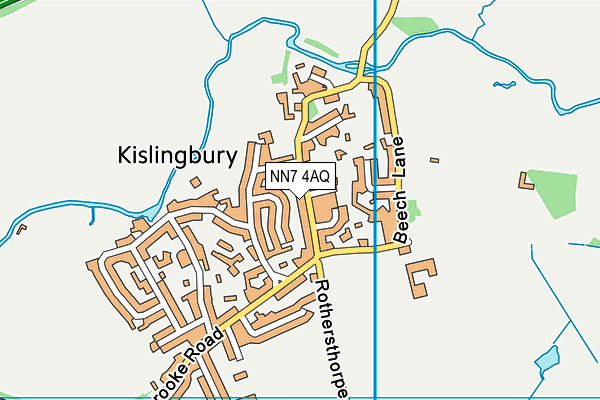 Kislingbury Primary School map (NN7 4AQ) - OS VectorMap District (Ordnance Survey)