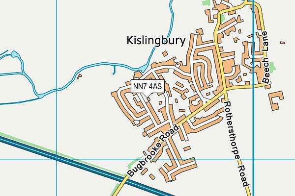 NN7 4AS map - OS VectorMap District (Ordnance Survey)