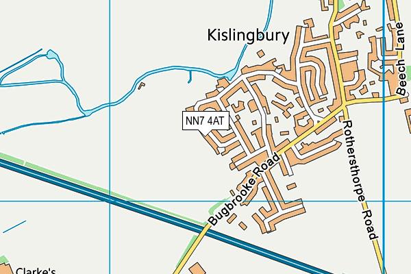 NN7 4AT map - OS VectorMap District (Ordnance Survey)