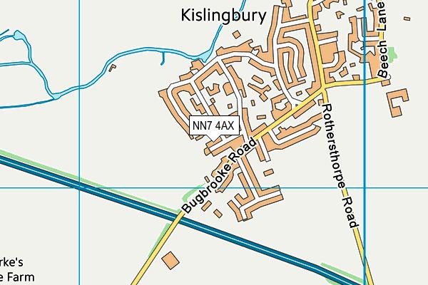 NN7 4AX map - OS VectorMap District (Ordnance Survey)