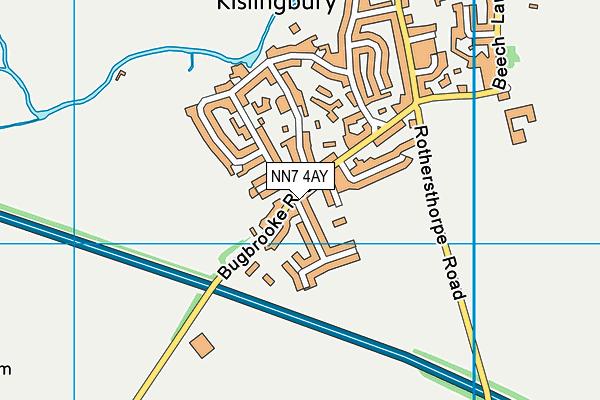 NN7 4AY map - OS VectorMap District (Ordnance Survey)