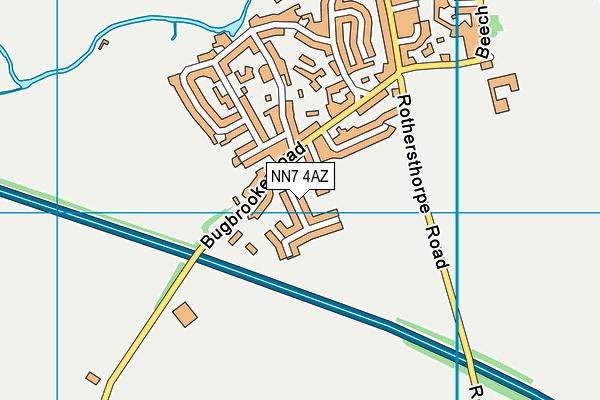 NN7 4AZ map - OS VectorMap District (Ordnance Survey)