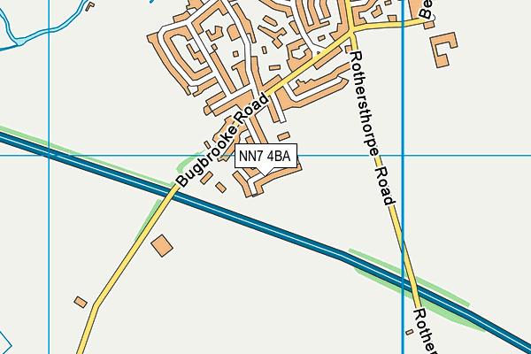 NN7 4BA map - OS VectorMap District (Ordnance Survey)