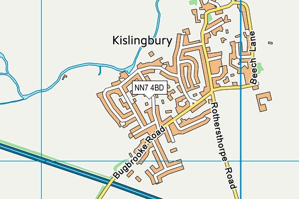 NN7 4BD map - OS VectorMap District (Ordnance Survey)