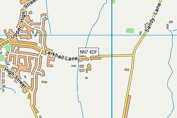 NN7 4DF map - OS VectorMap District (Ordnance Survey)