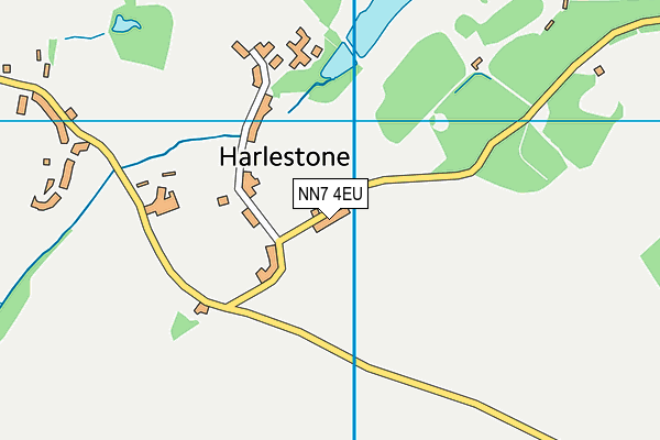 NN7 4EU map - OS VectorMap District (Ordnance Survey)
