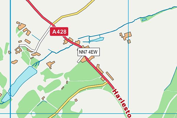 NN7 4EW map - OS VectorMap District (Ordnance Survey)