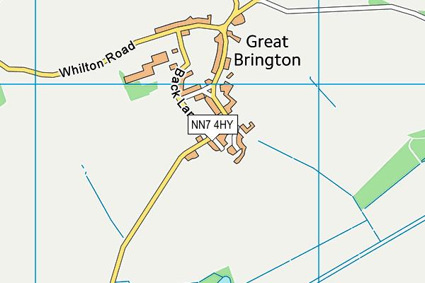 NN7 4HY map - OS VectorMap District (Ordnance Survey)