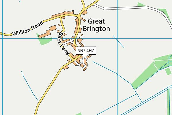 NN7 4HZ map - OS VectorMap District (Ordnance Survey)