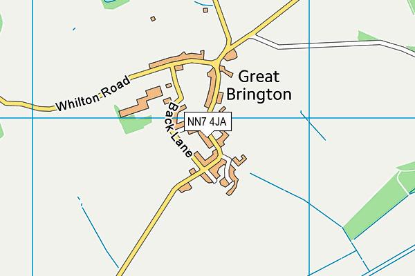 NN7 4JA map - OS VectorMap District (Ordnance Survey)