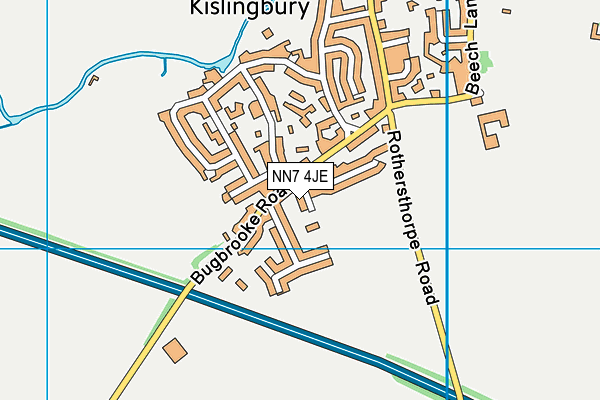 NN7 4JE map - OS VectorMap District (Ordnance Survey)