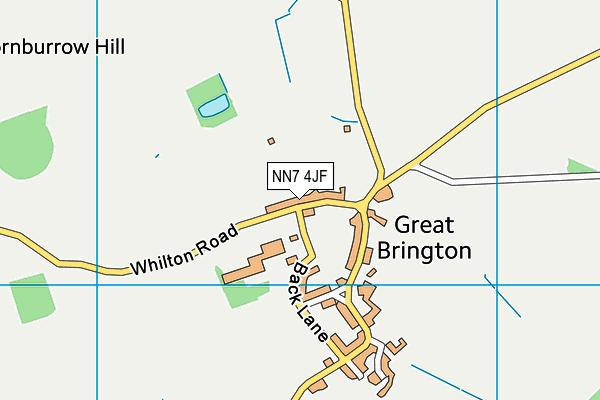 NN7 4JF map - OS VectorMap District (Ordnance Survey)