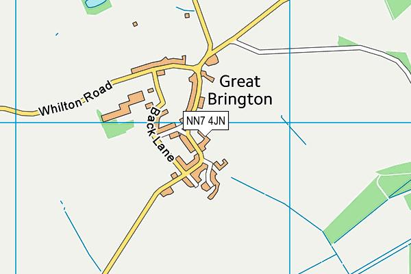 NN7 4JN map - OS VectorMap District (Ordnance Survey)