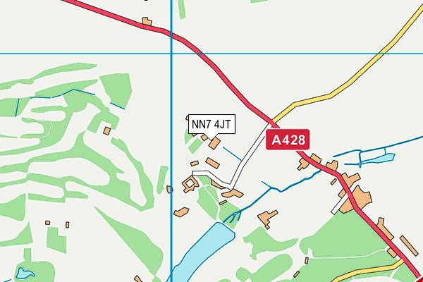 NN7 4JT map - OS VectorMap District (Ordnance Survey)