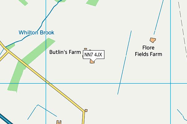 NN7 4JX map - OS VectorMap District (Ordnance Survey)