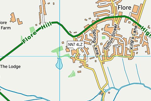 Flore Church of England Primary School map (NN7 4LZ) - OS VectorMap District (Ordnance Survey)