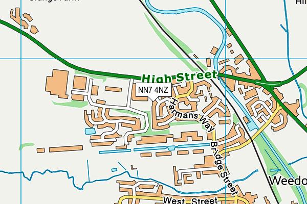 NN7 4NZ map - OS VectorMap District (Ordnance Survey)