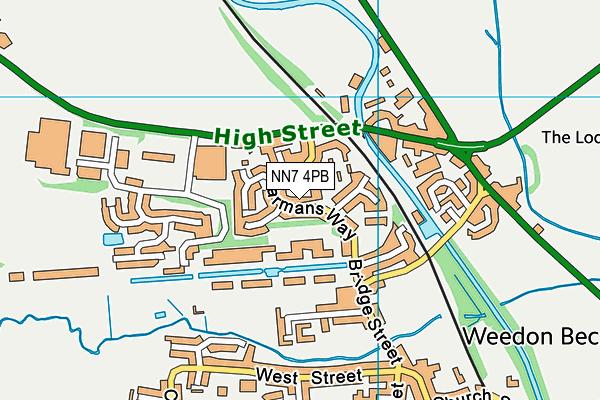 NN7 4PB map - OS VectorMap District (Ordnance Survey)