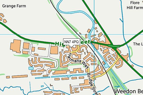 NN7 4PQ map - OS VectorMap District (Ordnance Survey)