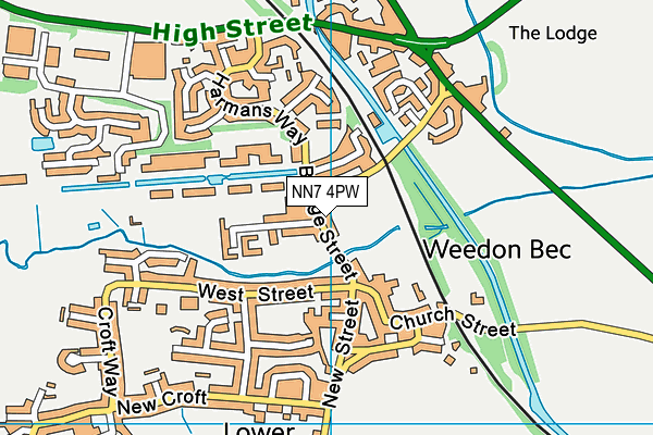 Jubilee Sports Field map (NN7 4PW) - OS VectorMap District (Ordnance Survey)