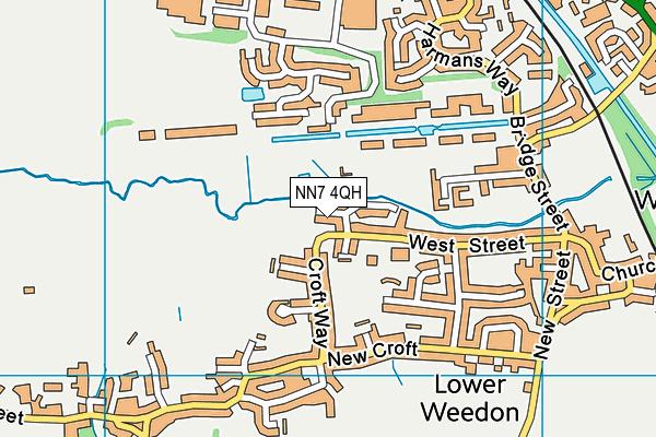 NN7 4QH map - OS VectorMap District (Ordnance Survey)