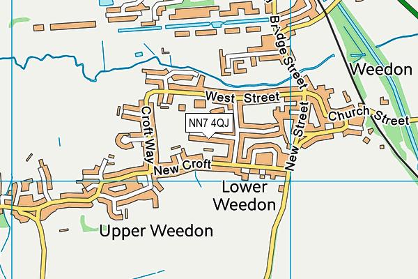 NN7 4QJ map - OS VectorMap District (Ordnance Survey)