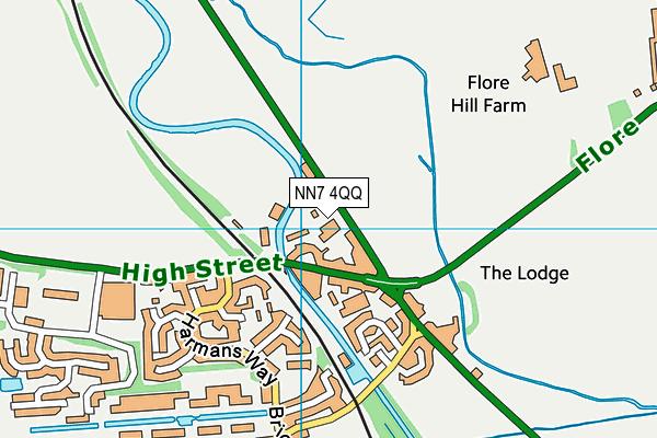 NN7 4QQ map - OS VectorMap District (Ordnance Survey)