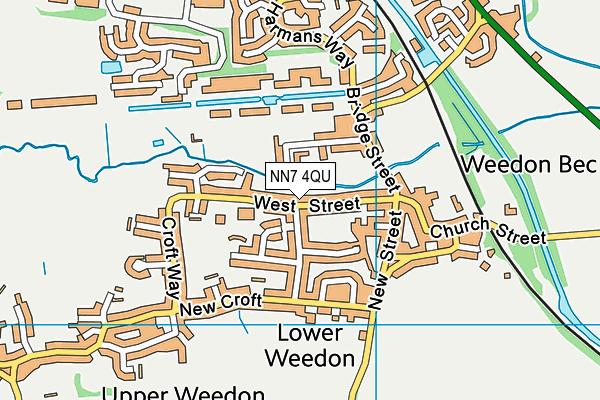 NN7 4QU map - OS VectorMap District (Ordnance Survey)