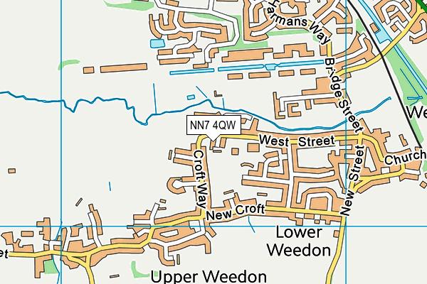NN7 4QW map - OS VectorMap District (Ordnance Survey)