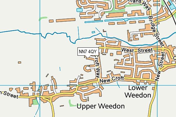 NN7 4QY map - OS VectorMap District (Ordnance Survey)