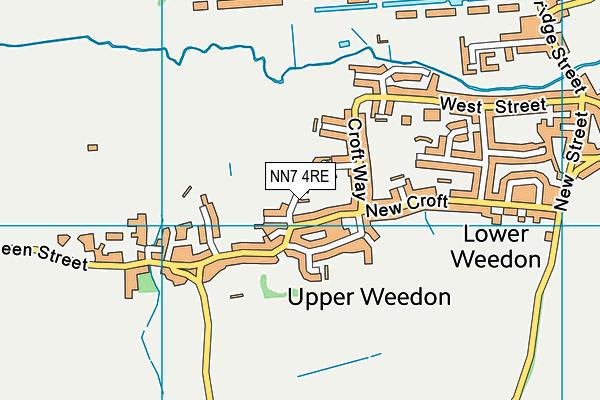 NN7 4RE map - OS VectorMap District (Ordnance Survey)