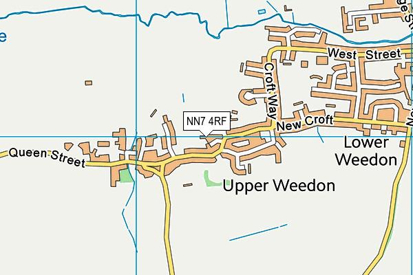 NN7 4RF map - OS VectorMap District (Ordnance Survey)