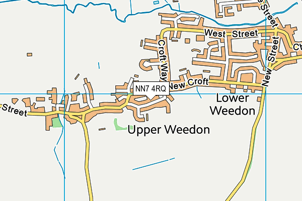 NN7 4RQ map - OS VectorMap District (Ordnance Survey)