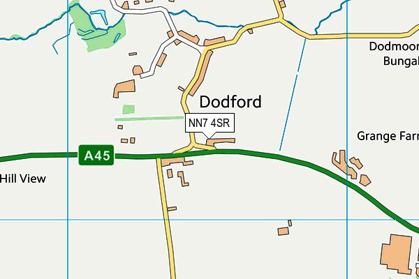NN7 4SR map - OS VectorMap District (Ordnance Survey)