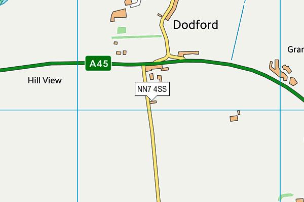 NN7 4SS map - OS VectorMap District (Ordnance Survey)