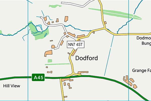 NN7 4ST map - OS VectorMap District (Ordnance Survey)