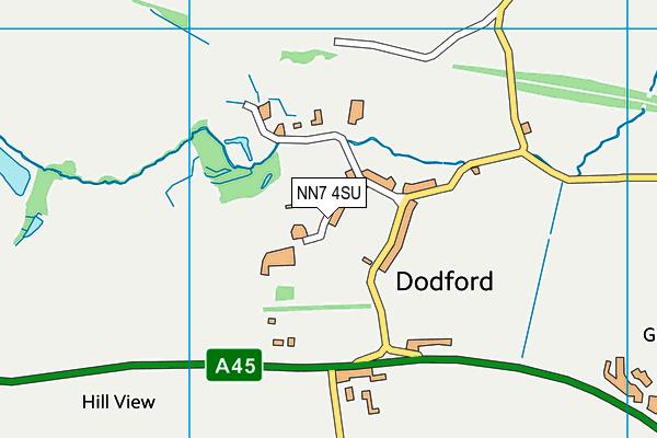 NN7 4SU map - OS VectorMap District (Ordnance Survey)