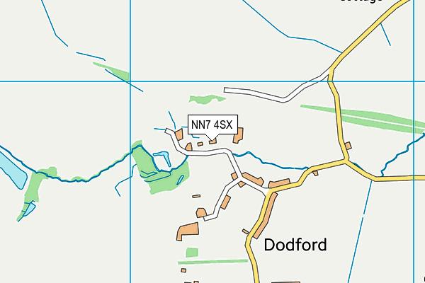 NN7 4SX map - OS VectorMap District (Ordnance Survey)