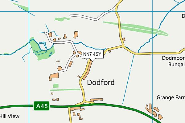 NN7 4SY map - OS VectorMap District (Ordnance Survey)