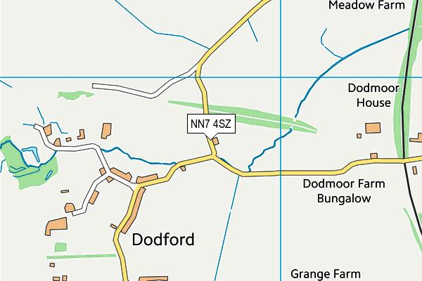 NN7 4SZ map - OS VectorMap District (Ordnance Survey)