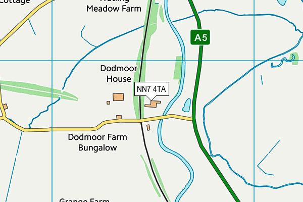 NN7 4TA map - OS VectorMap District (Ordnance Survey)