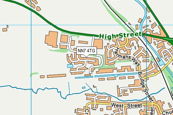 NN7 4TG map - OS VectorMap District (Ordnance Survey)