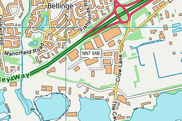 NN7 9AB map - OS VectorMap District (Ordnance Survey)
