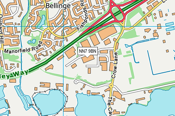 NN7 9BN map - OS VectorMap District (Ordnance Survey)