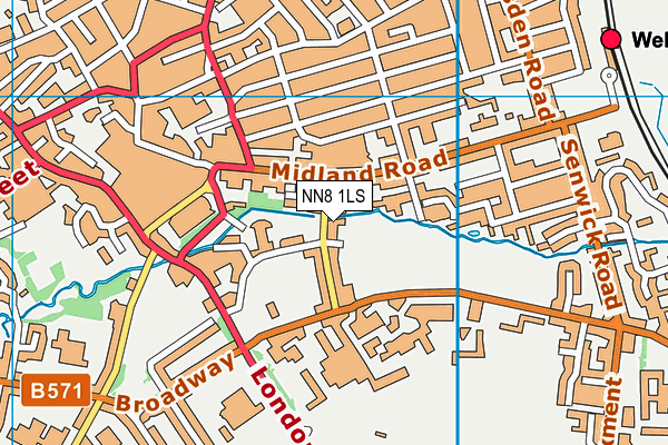 All Saints CEVA Primary School and Nursery map (NN8 1LS) - OS VectorMap District (Ordnance Survey)